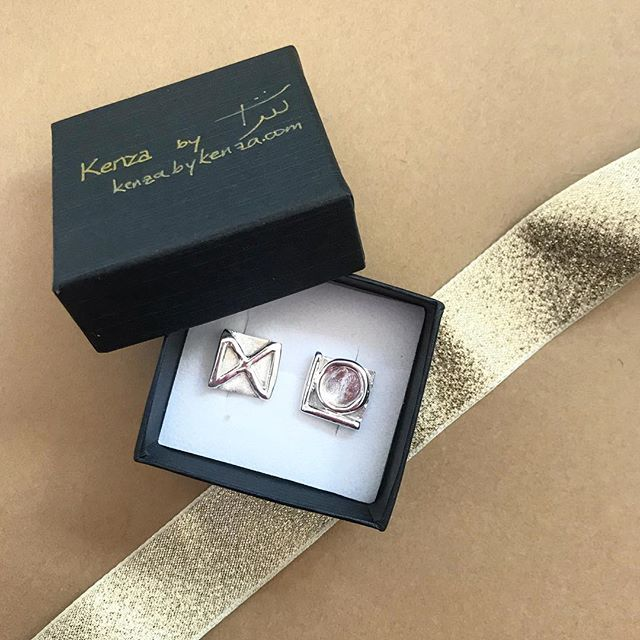 This Christmas, gift something personal. These sterling silver cuff links were made to order to represent the initials of my clients' four children. Order now and receive in time for the holidays!