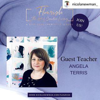 Guest Tutor on Nicola Newman's 'Flourish - The Art of Creative Living'. -