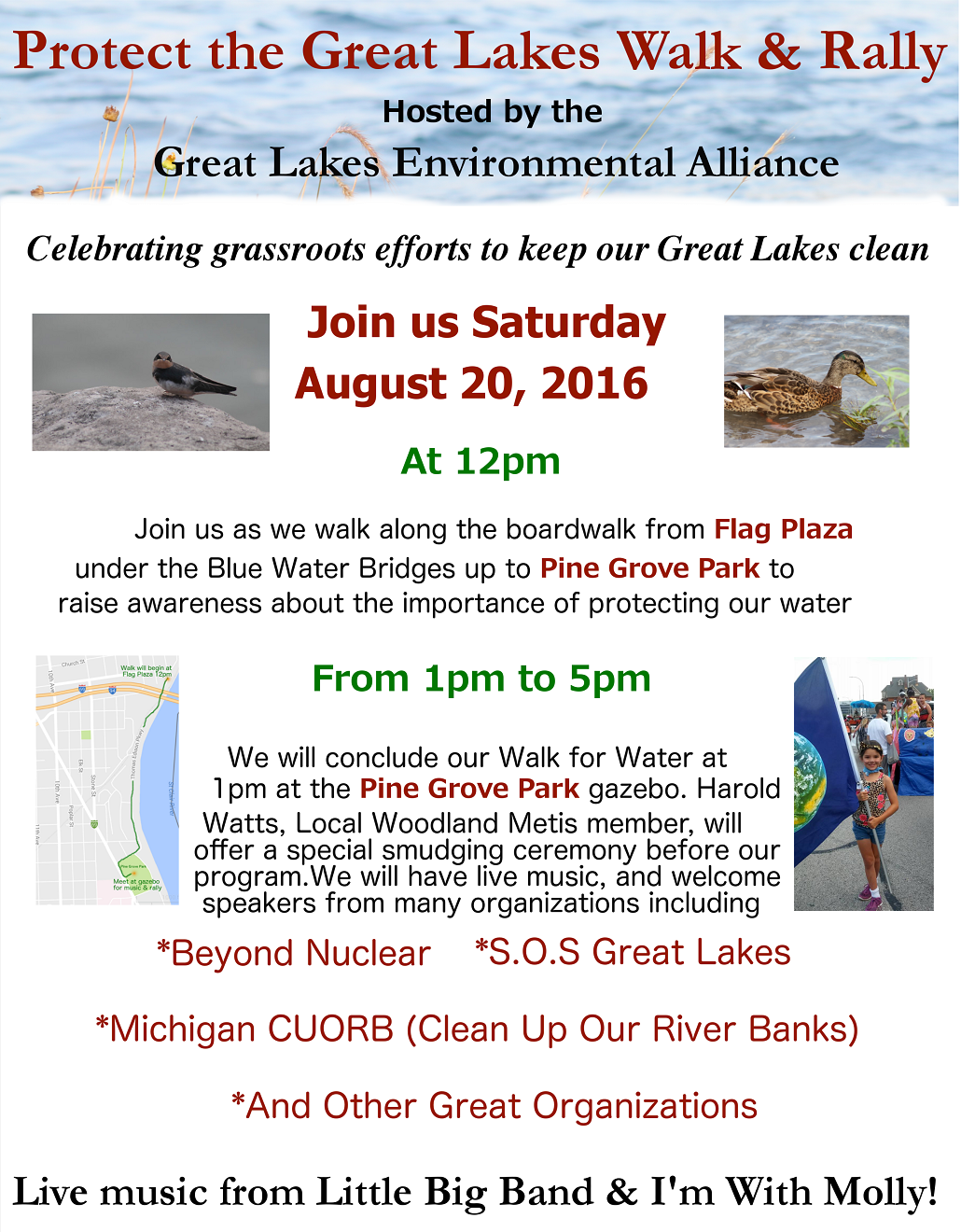 Port Huron Michigan Rally March Great Lakes Grassroots