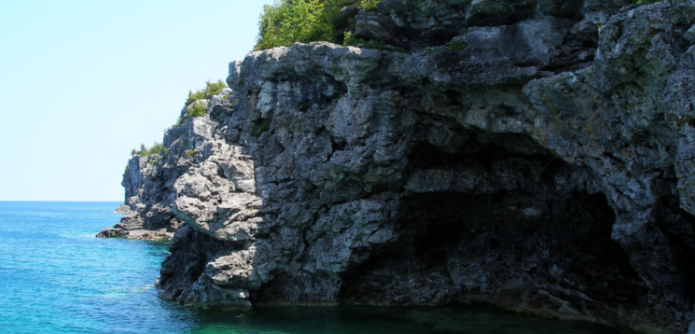 "The ""Grotto"" at the Bruce Peninsula National Park, Northwest of the Proposed DGR Site near Kincardine."