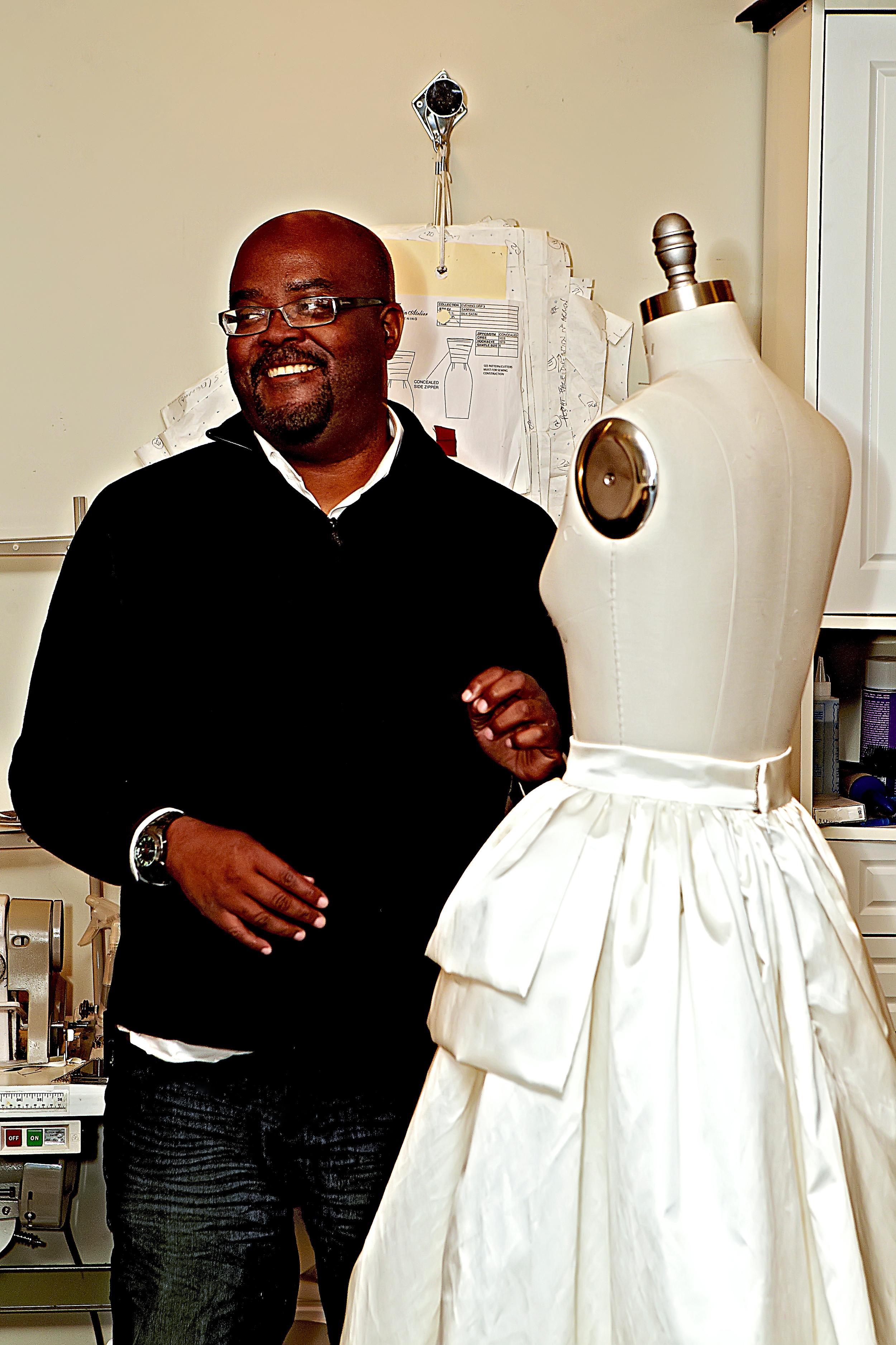 Jean-Ralph Thurin sewing wedding dress