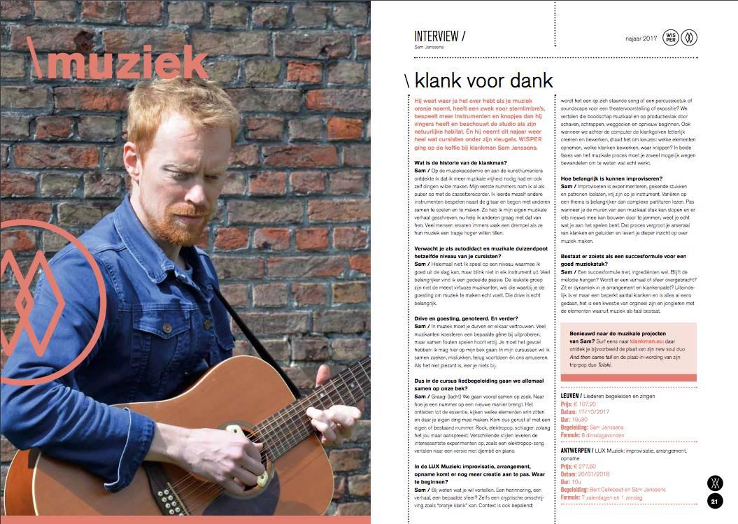 Wisper Magazine • interview