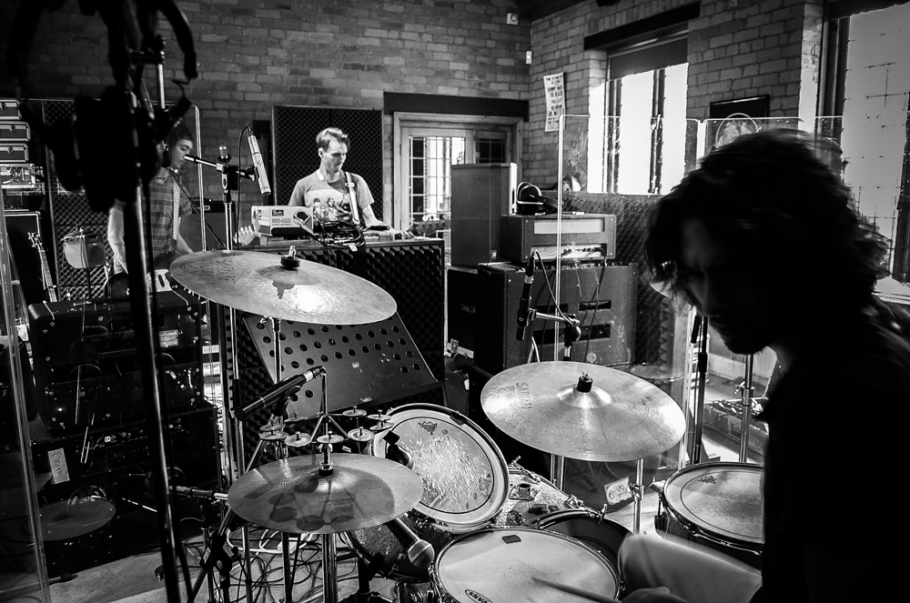 Rehearsing drums in England with Nile Marr & Dave Zandvliet for Man Made (UK)