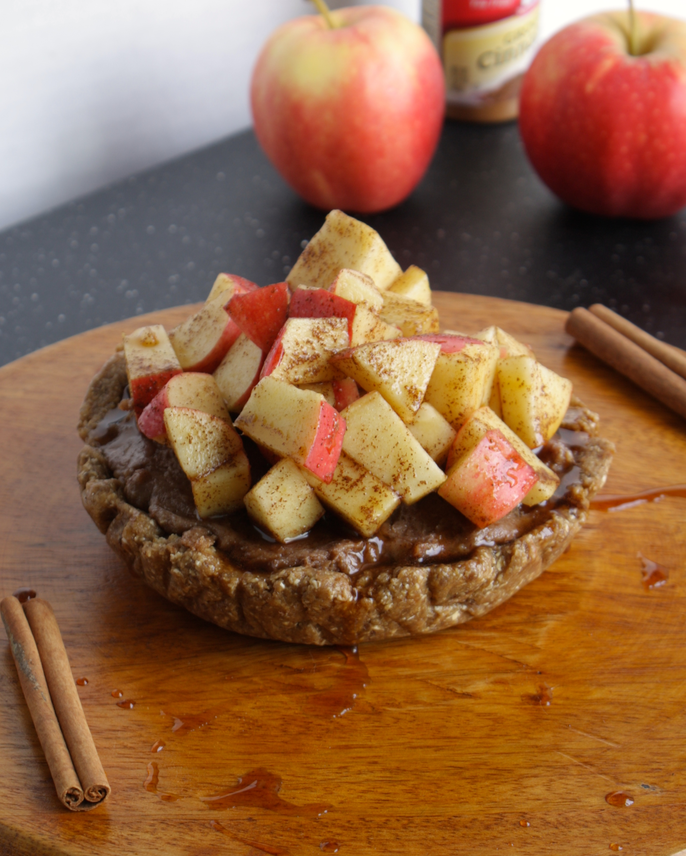 Apple Cinnamon cheesecake Vegan Gluten Free