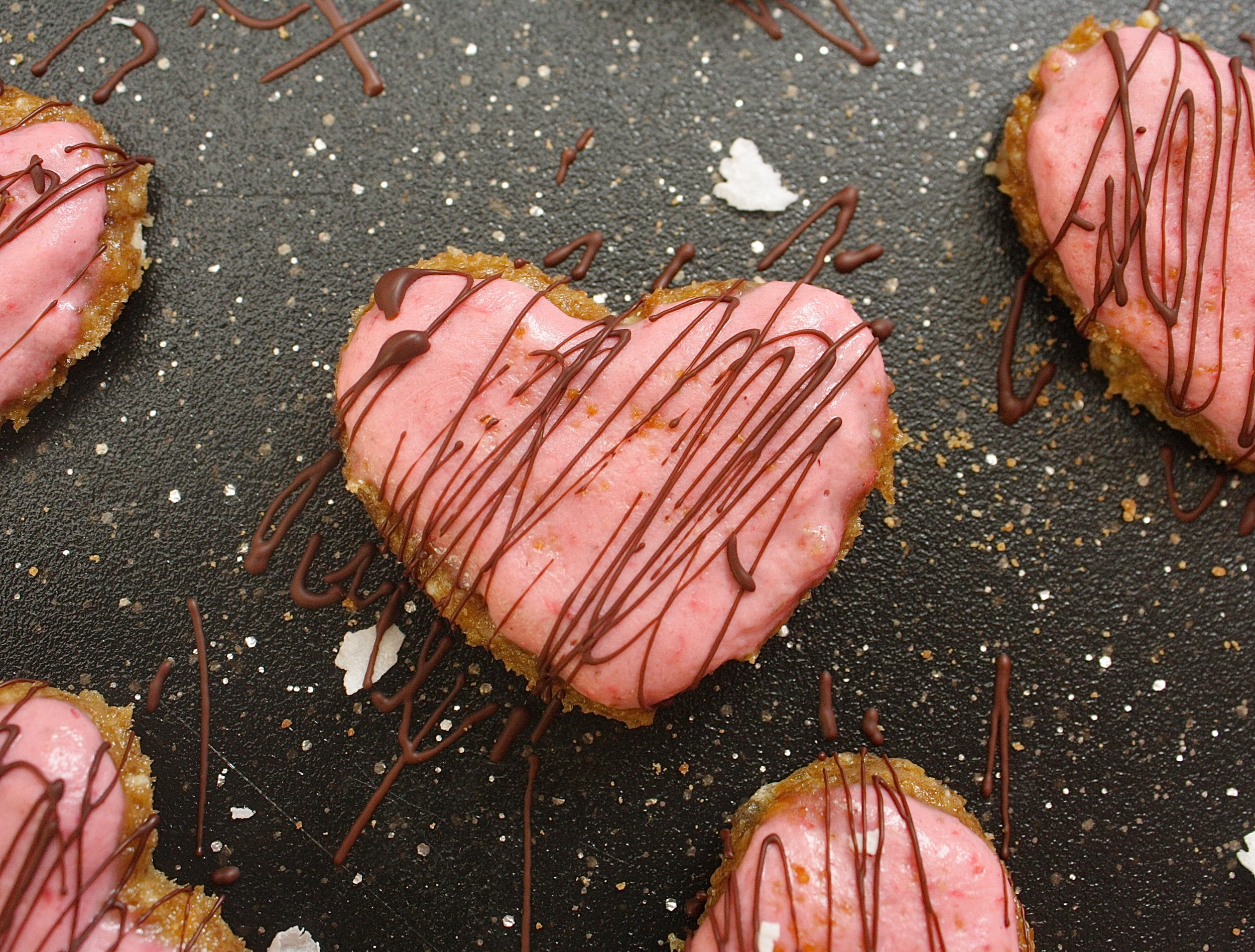 Strawberry Coconut Cookies Raw Valentine's Day