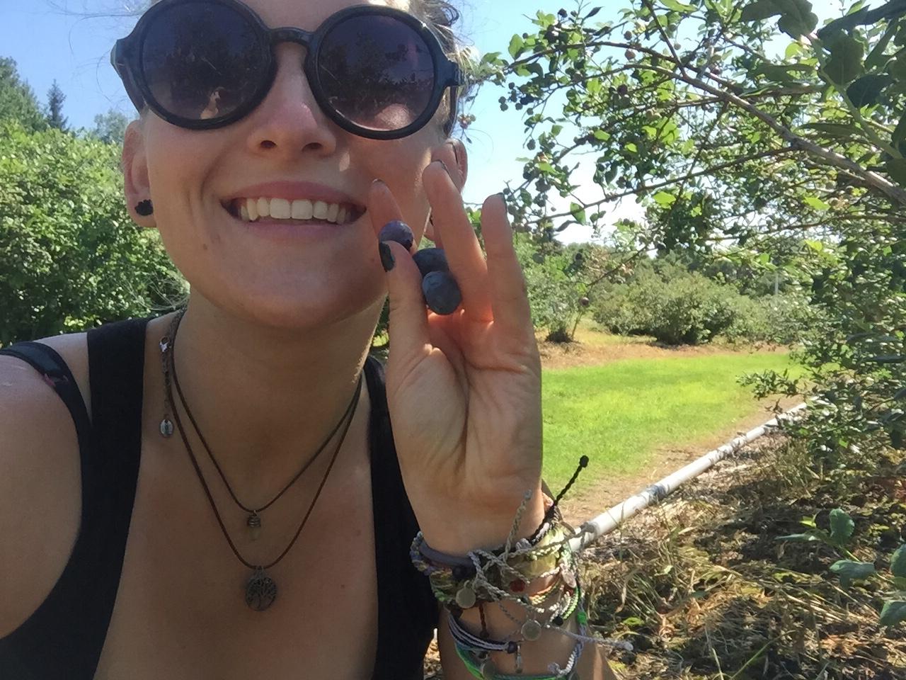 Vegan Blueberry Picking