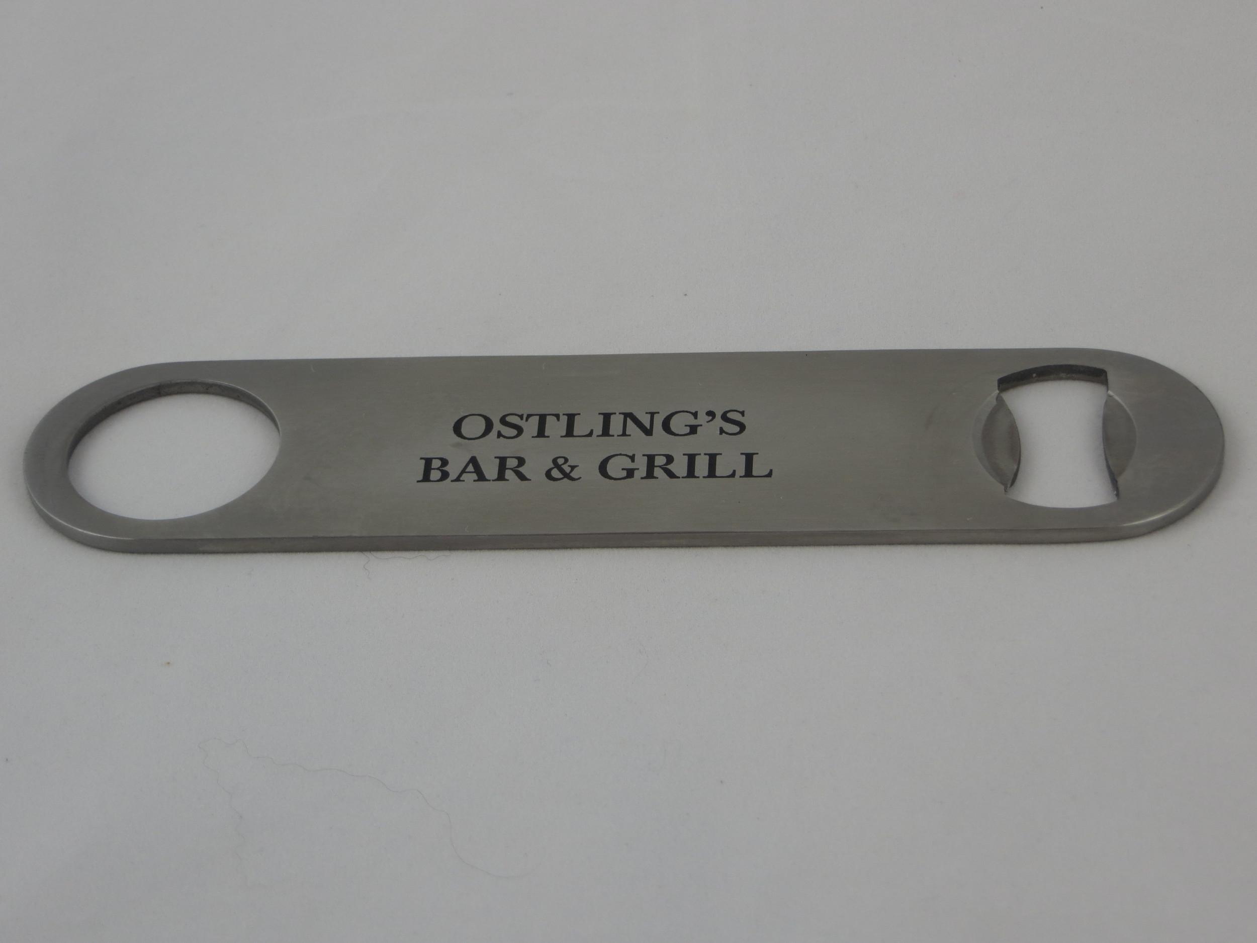 laser engraved stainless steel bottle opener