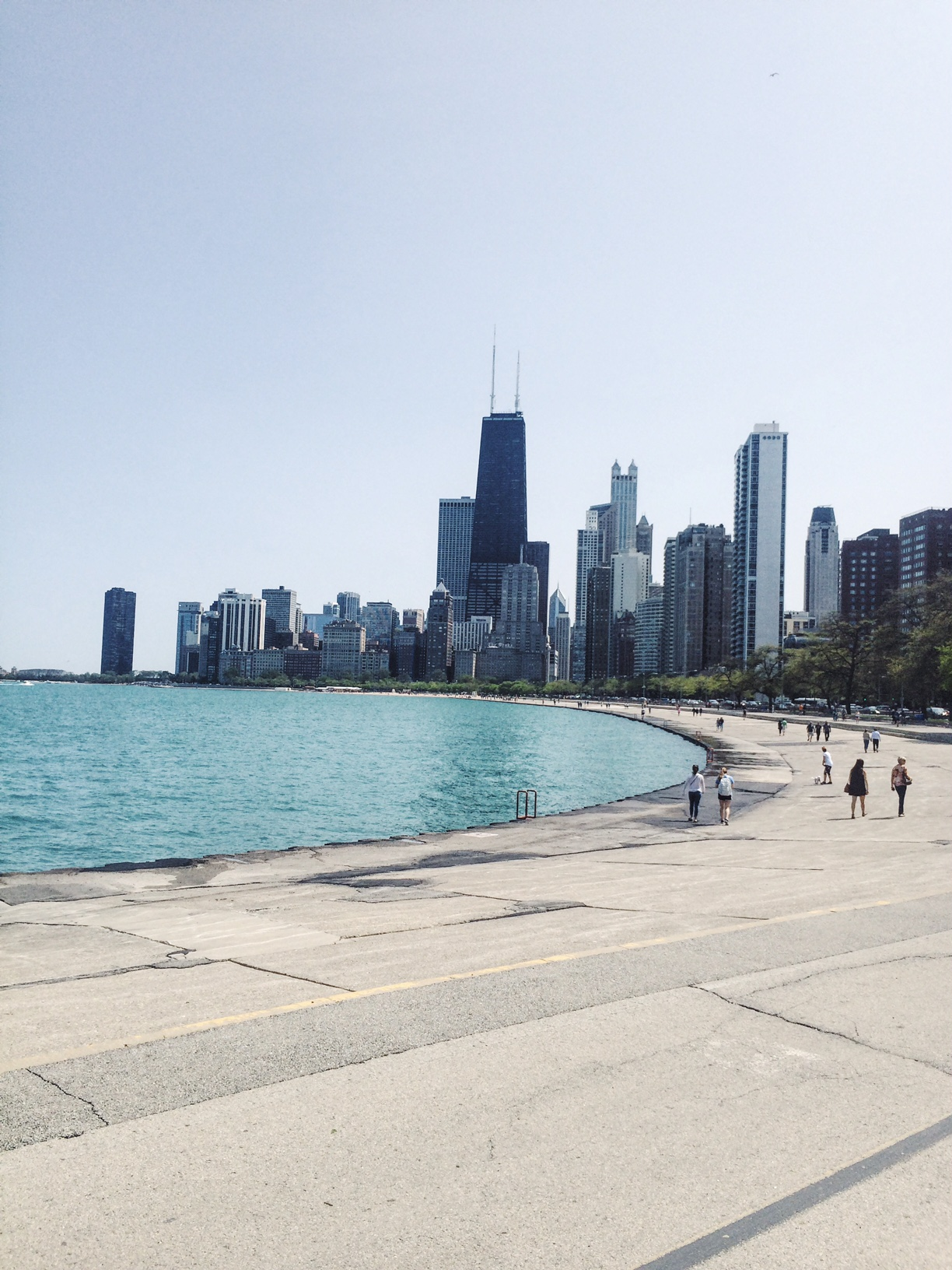 Chicago in the summer time -