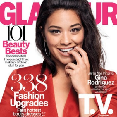 Glamour October 2015 Cover: Gina Rodriguez
