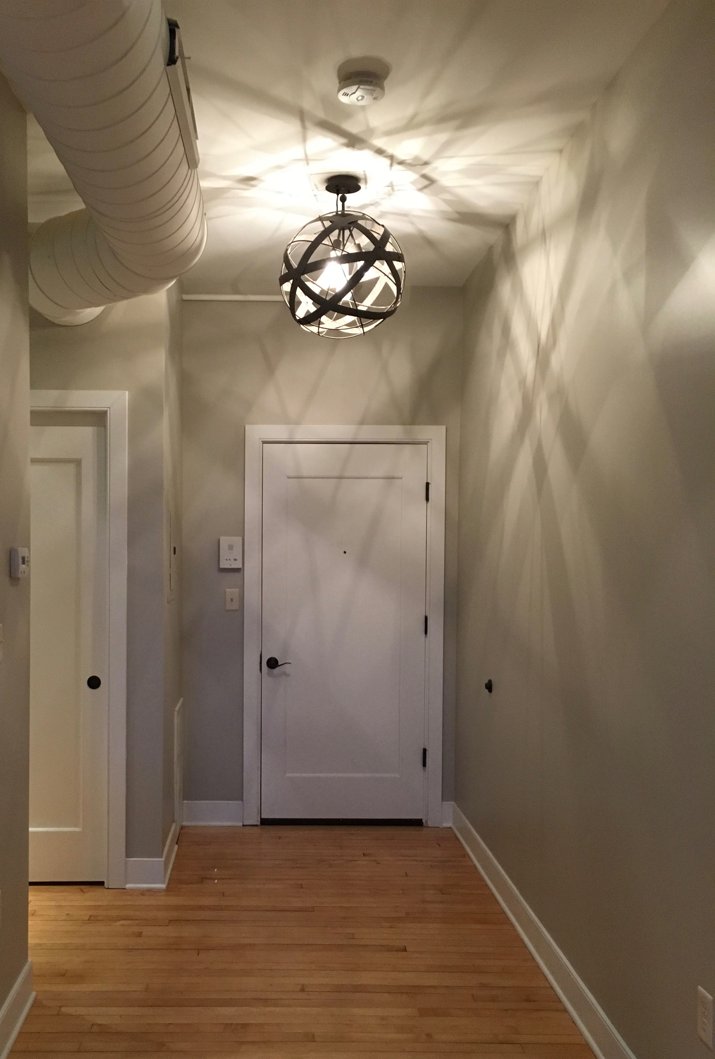 The front entrance...my favorite light fixture.