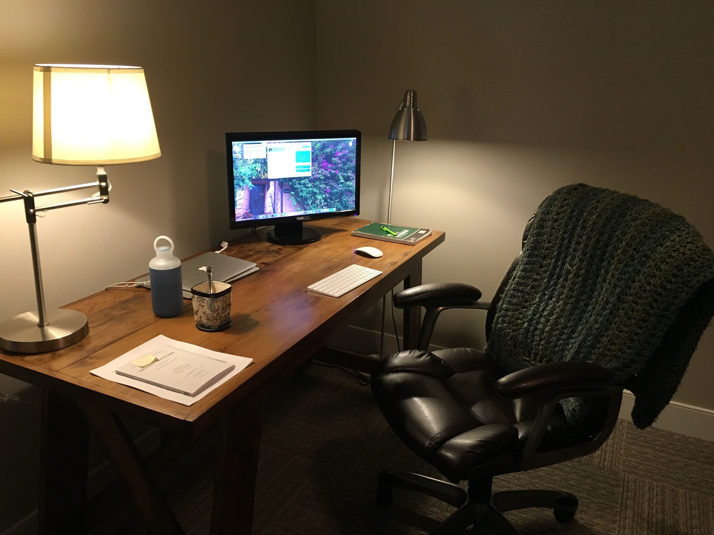 New office digs/guest bedroom.