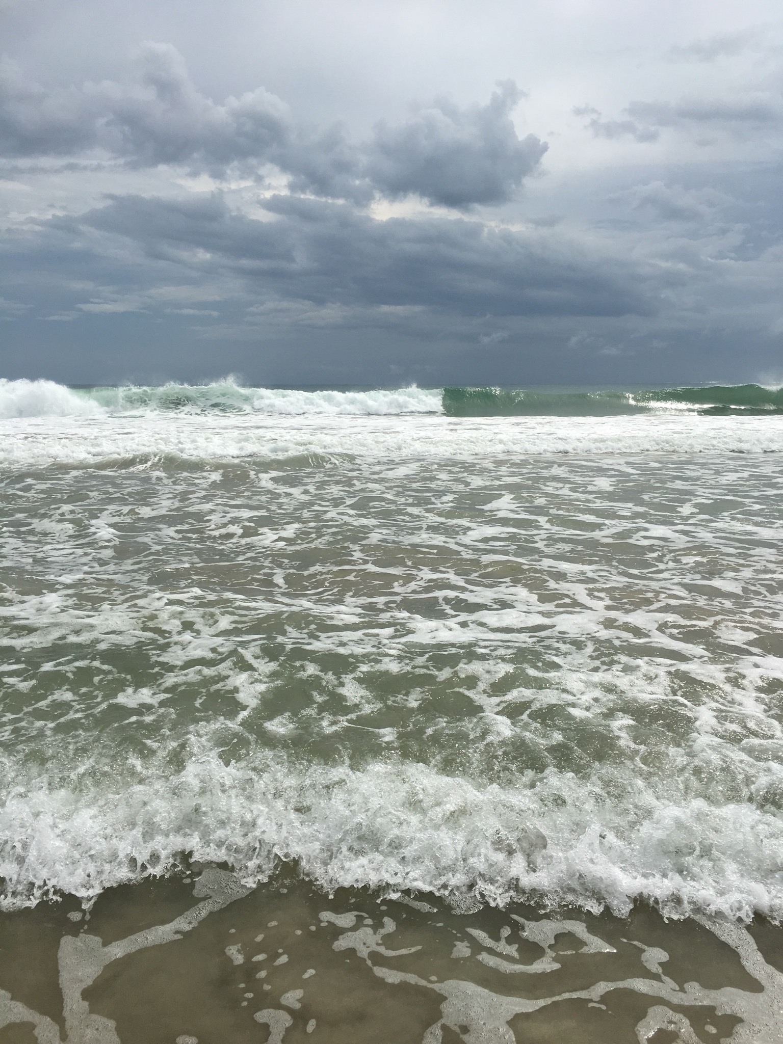 Bocas beach before the storm.