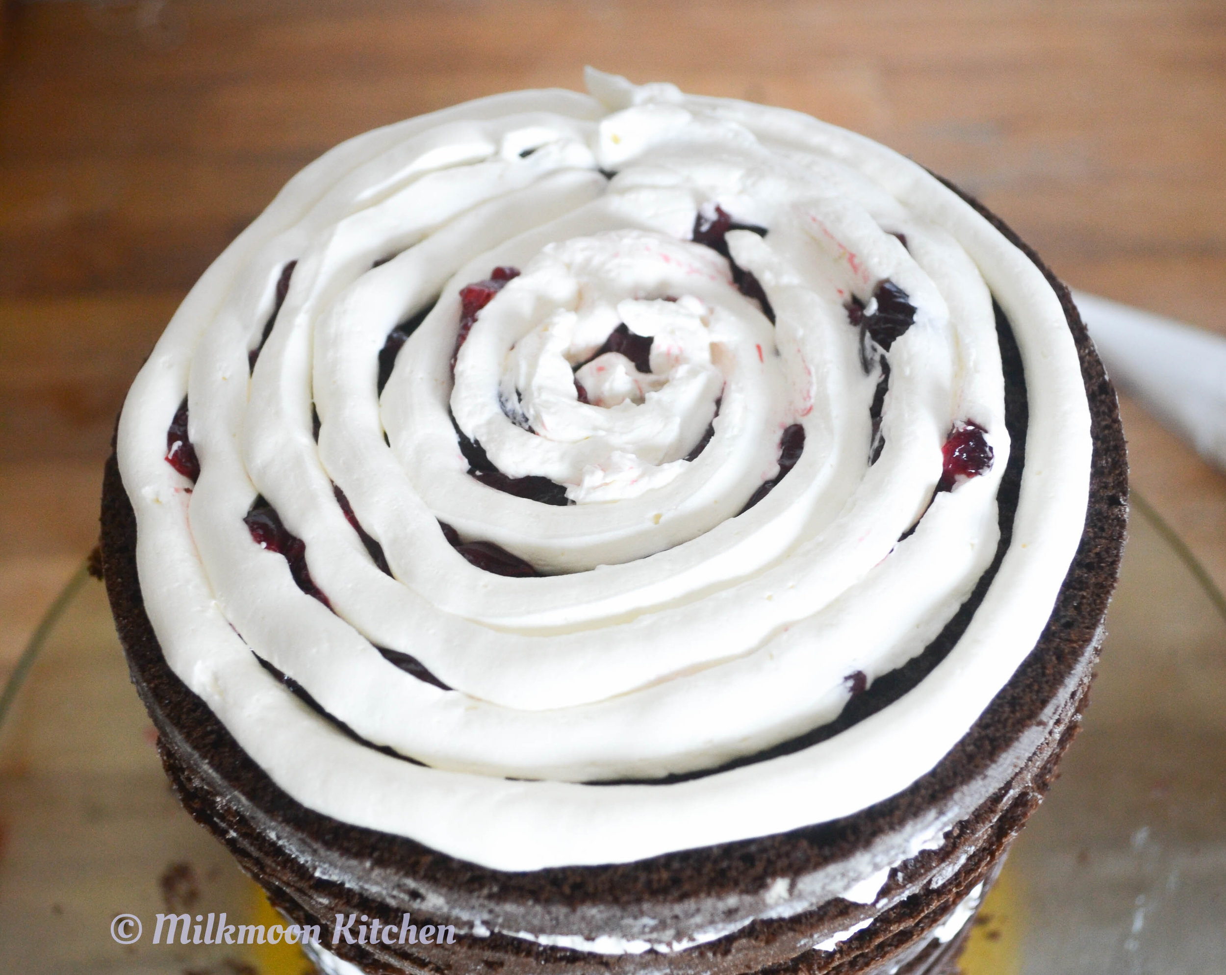 Black Cocoa Black Forest Cake by Milkmoon Kitchen