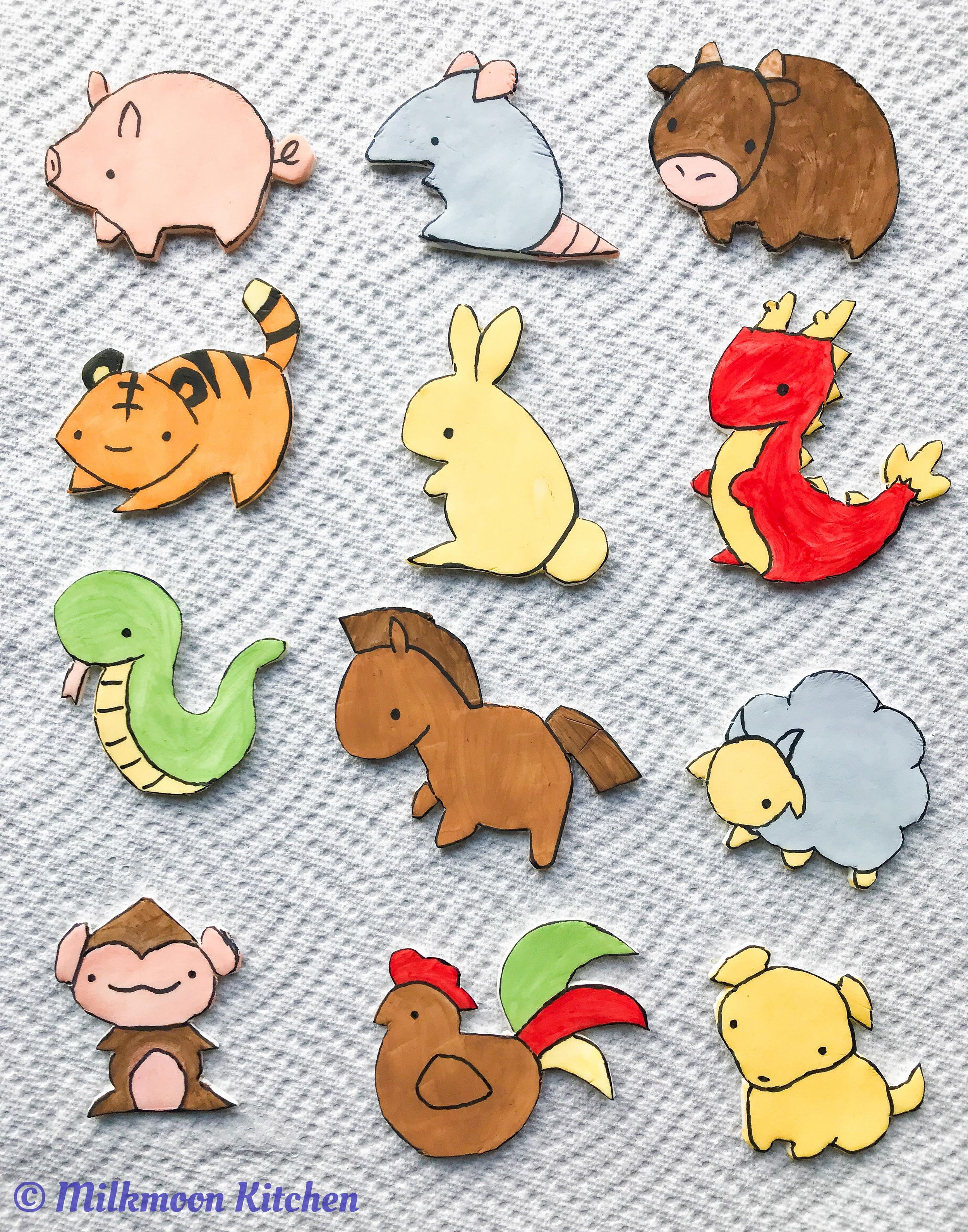 Chinese Zodiac Cupcakes