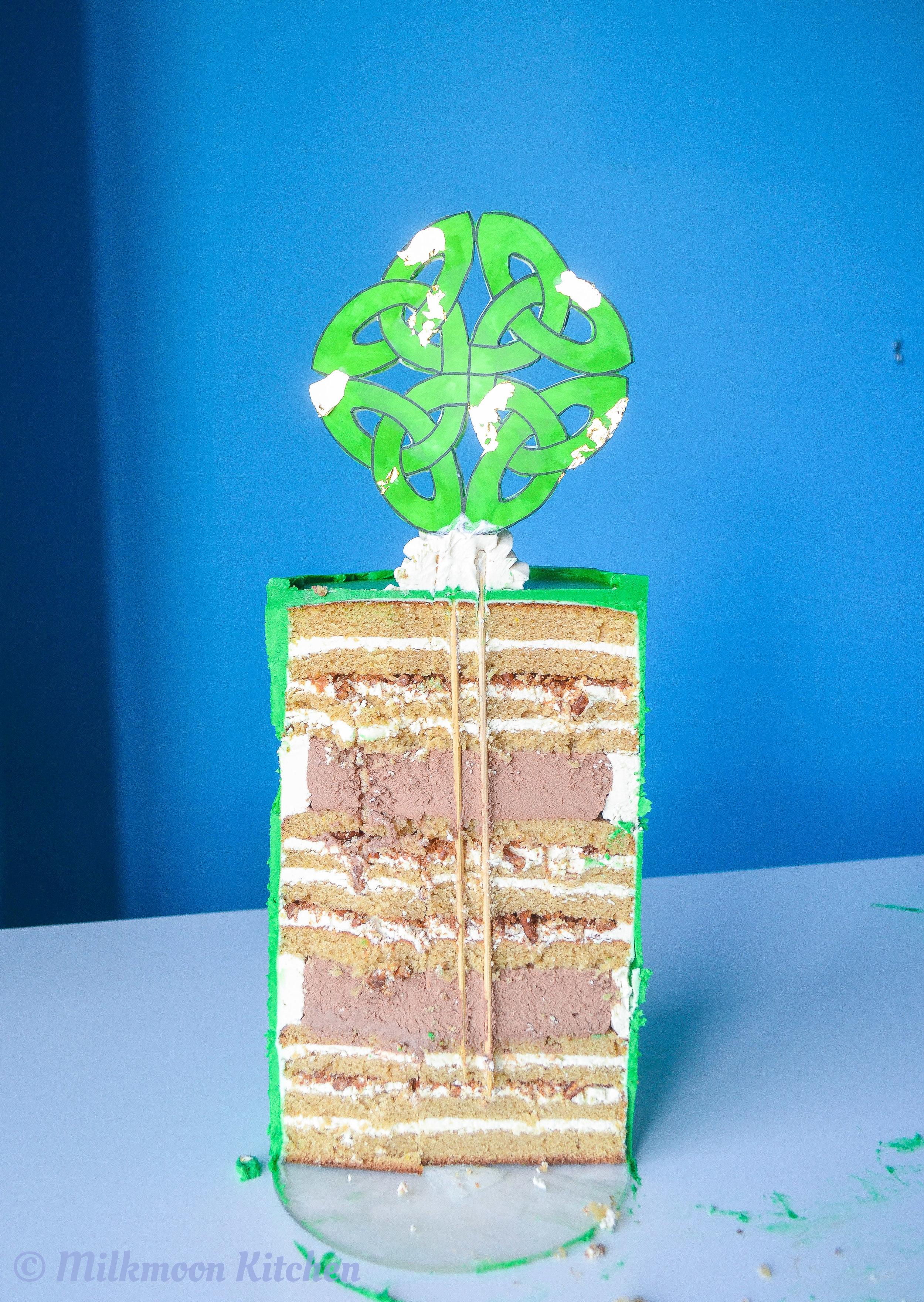 Celtic Knot Cake by Milkmoon Kitchen