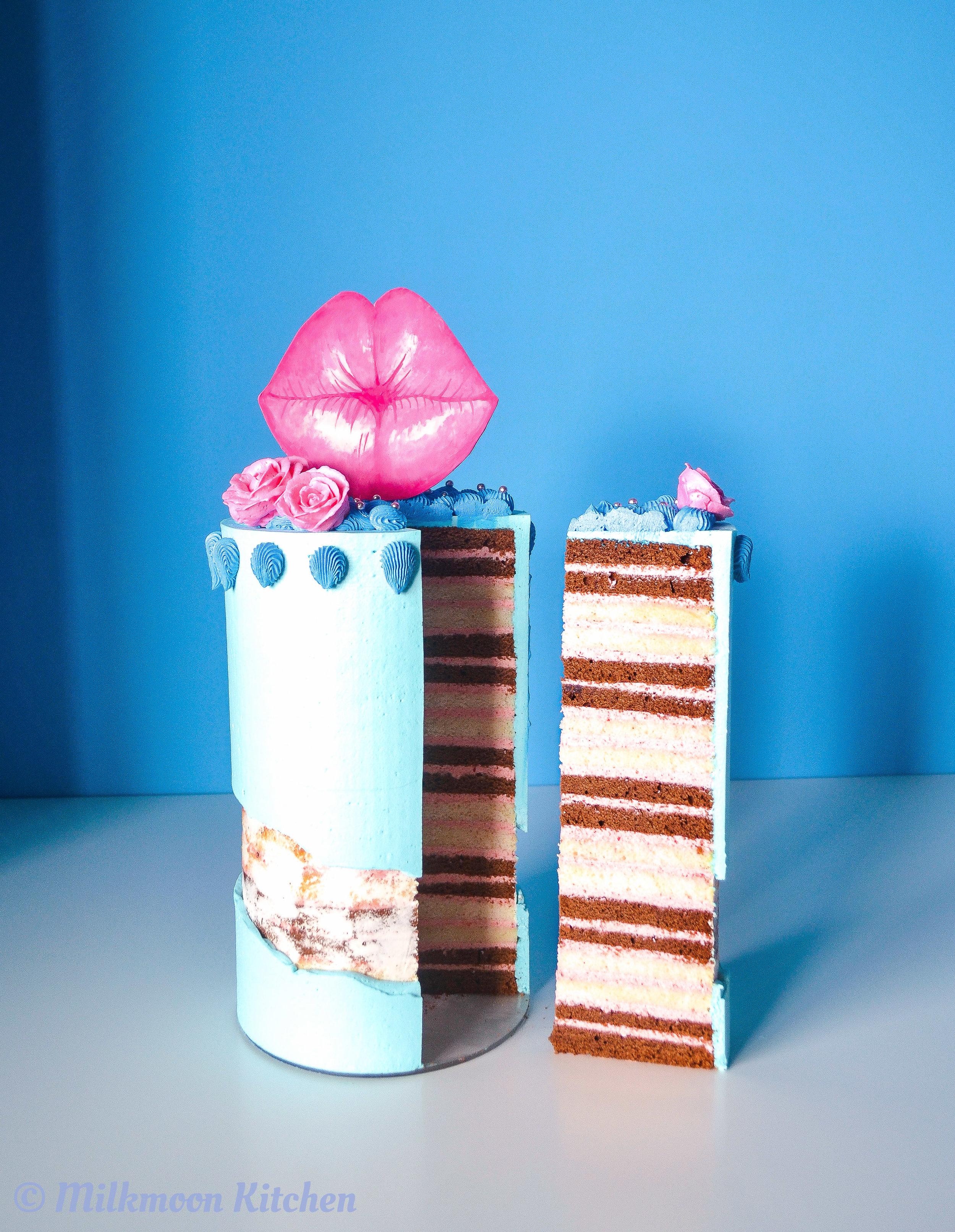 Yay Spring Neapolitan Cake by Milkmoon Kitchen
