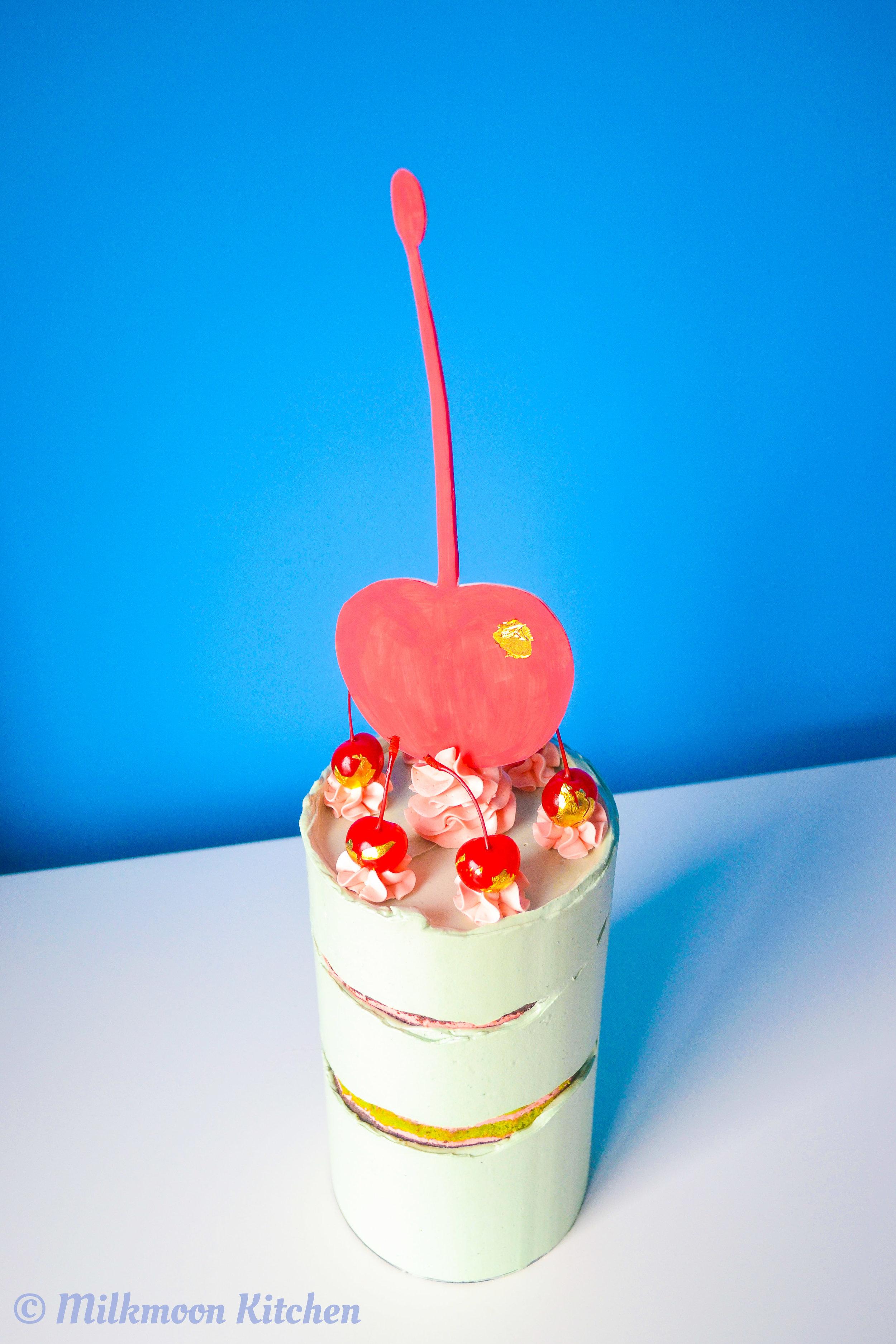 Cherry Bombe Spumoni Cake by Milkmoon Kitchen