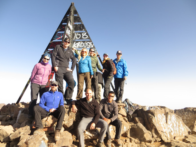 Our group at the summit of Mount Toubkal, Morroco