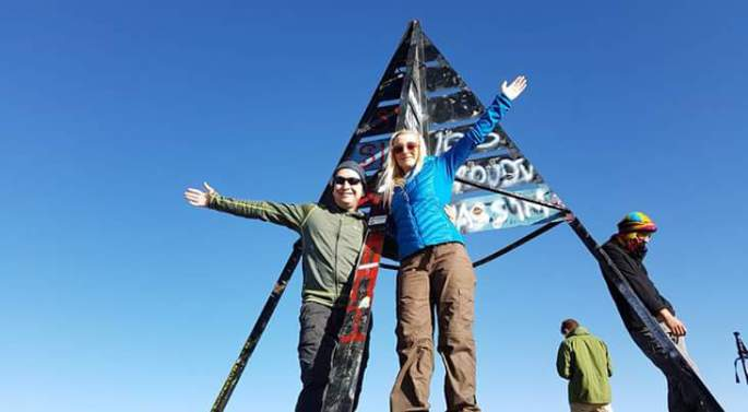 And we spent our 3rd weekend as a couple on top of Mount Toubkal!