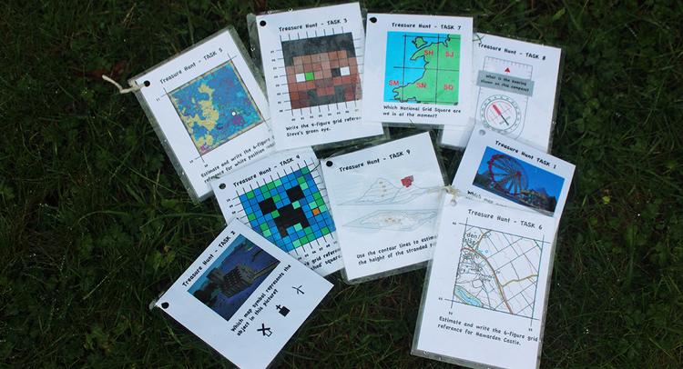 Laminated activity cards