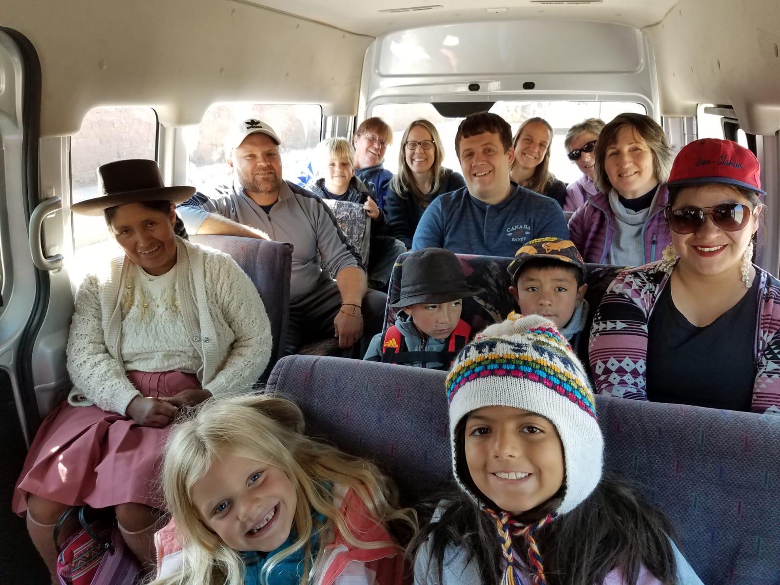 Everyone in the van