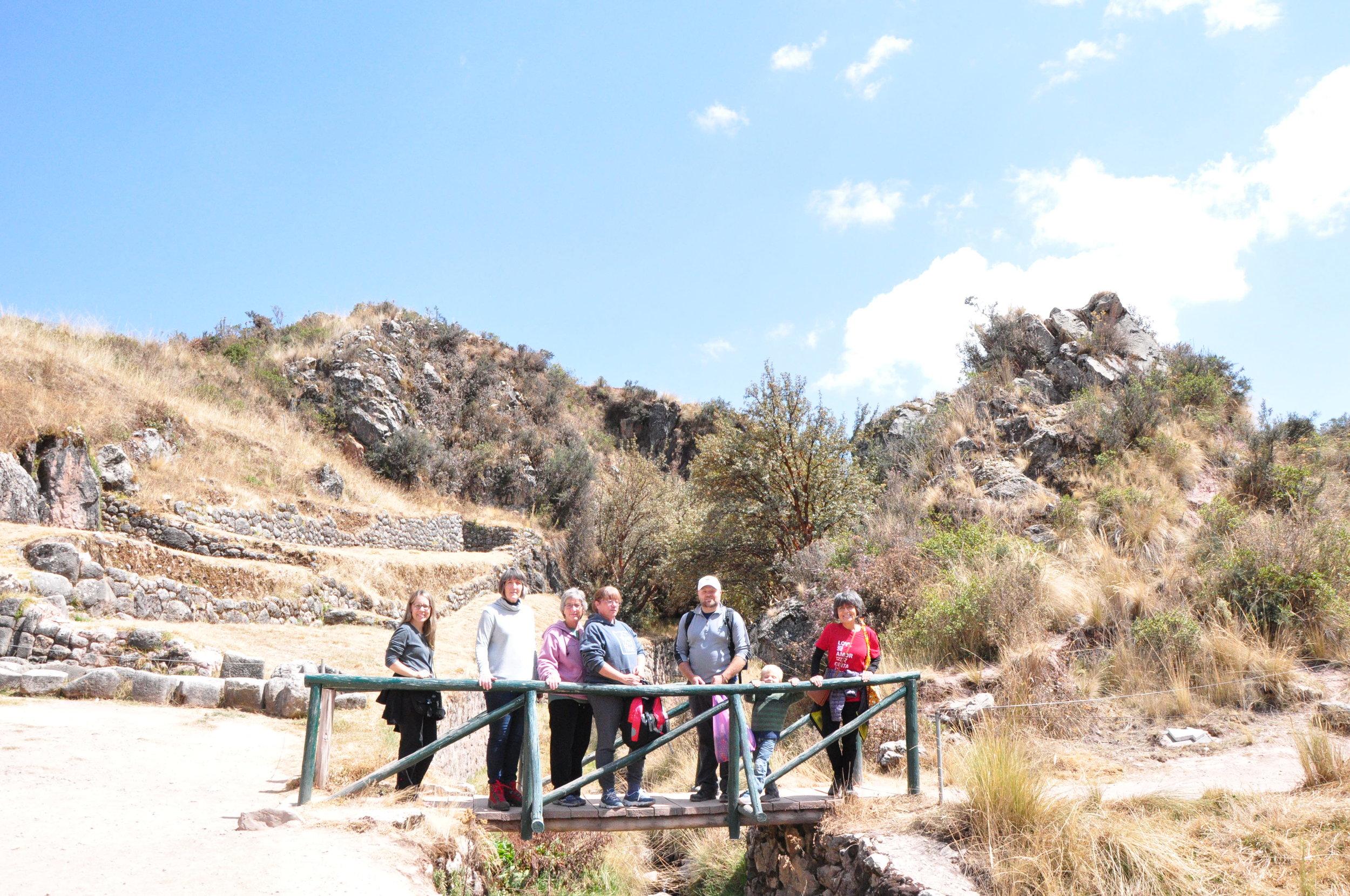 Hiking around Tambomachay, the bath of the Incas