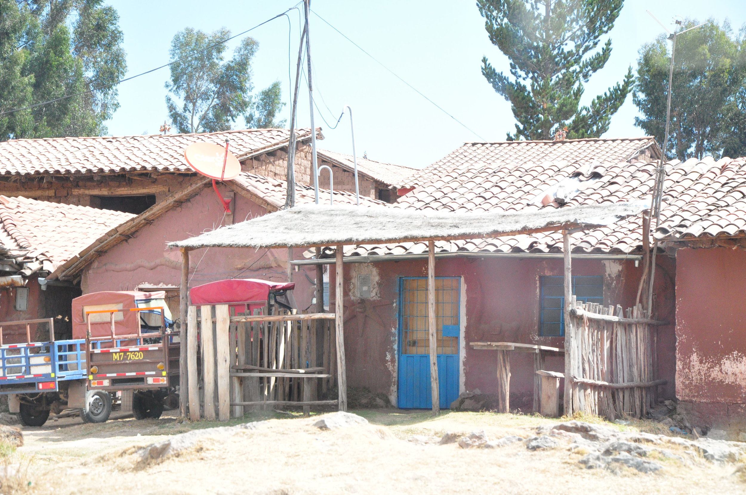 A typical Peruvian home in the countryside