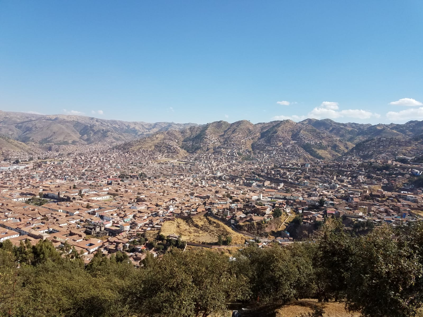Looking over the city of Cusco from Saqsayhuaman