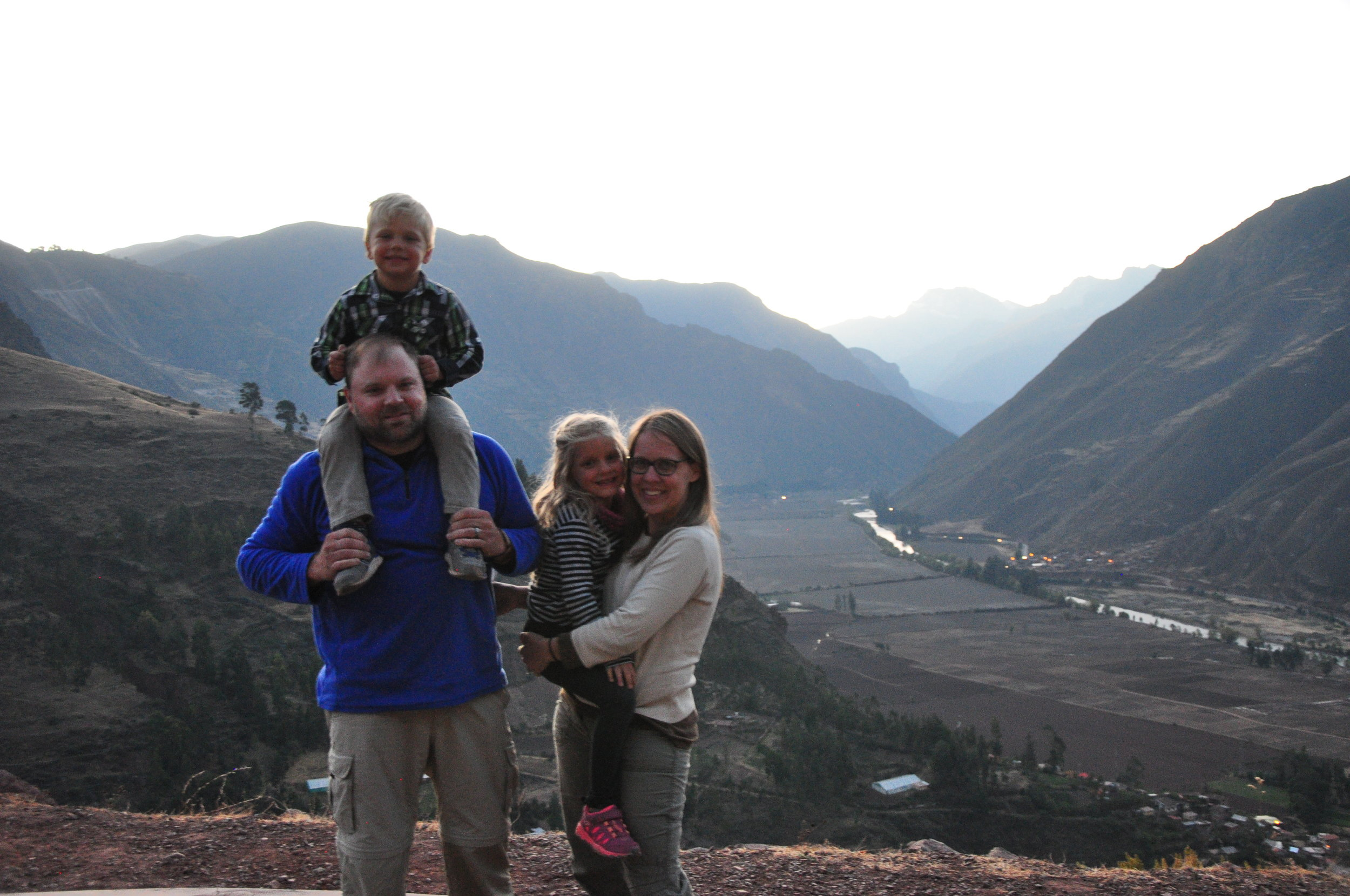 Overlooking Sacred Valley on our drive to Pisaq