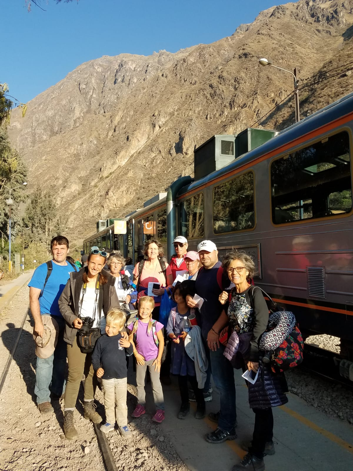 Leaving by train for Aguas Calientes