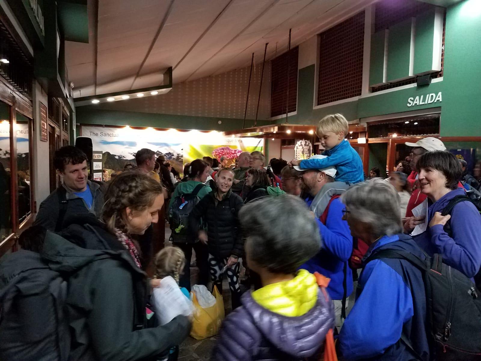 Preparing to leave Machu Picchu by train