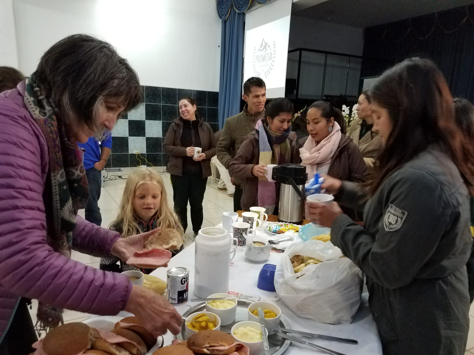 Breakfast with Promesa teachers