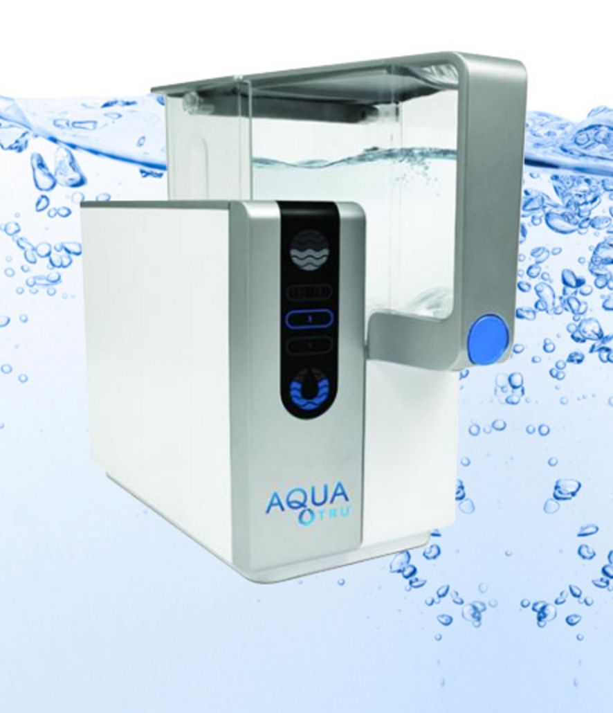 Aquatru water filter  REVERSE OSMOSIS WATER PURIFIER. AQUATRU REMOVES OR SUBSTANTIALLY REDUCES VIRTUALLY ALL THE TOXIC CHEMICALS IN YOUR TAP WATER.