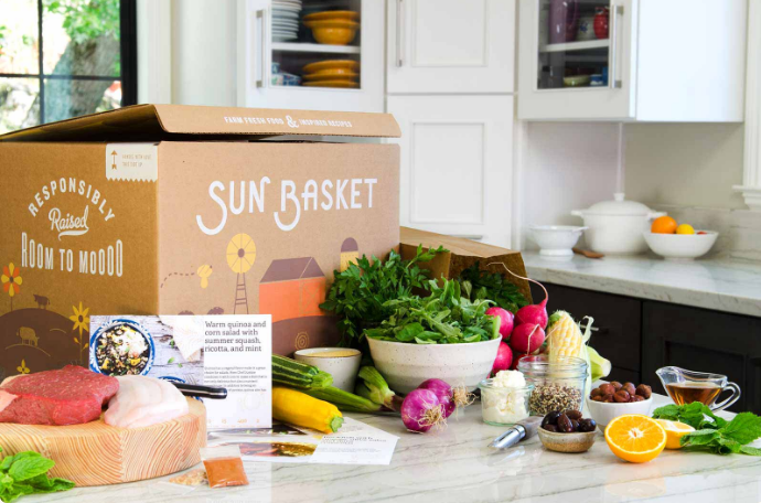 Sun basket  Organic and non-gmo ingredients and delicious recipes delivered weekly