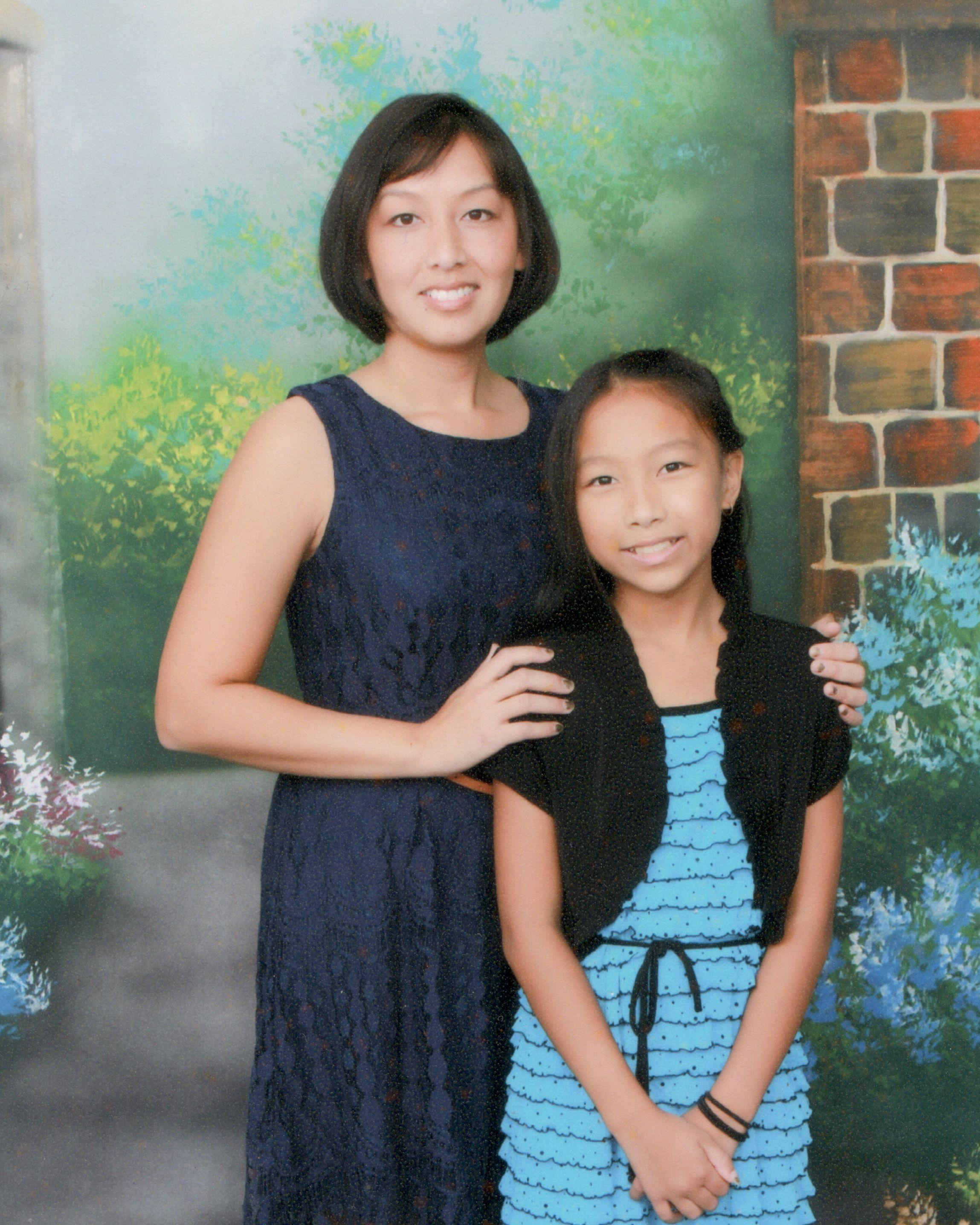 Chua and her daughter.