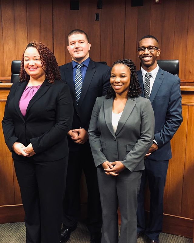 This morning students will compete in the Clifton E. Johnson Competition with the hopes of gaining membership to the Moot Court team. Good Luck to all Legal Eagles competing today! 🦅 #ncculaw #legaleagles #durhammaroons