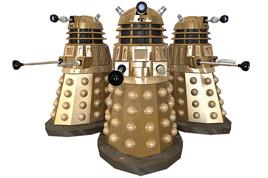 My Dalek - in 3 positions.