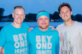 Clint Ussher (L - former Youth Pastor at Eagle), Rob Chagdes (middle - current Youth Pastor at Eagle), Ian Swyers (R - former Youth Pastor at Eagle).
