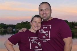My wife and I serving at ignite Camp.