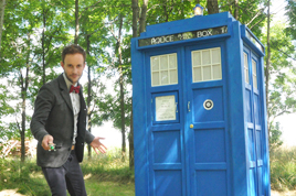 The Doctor (Nate) and MY TARDIS... not his.