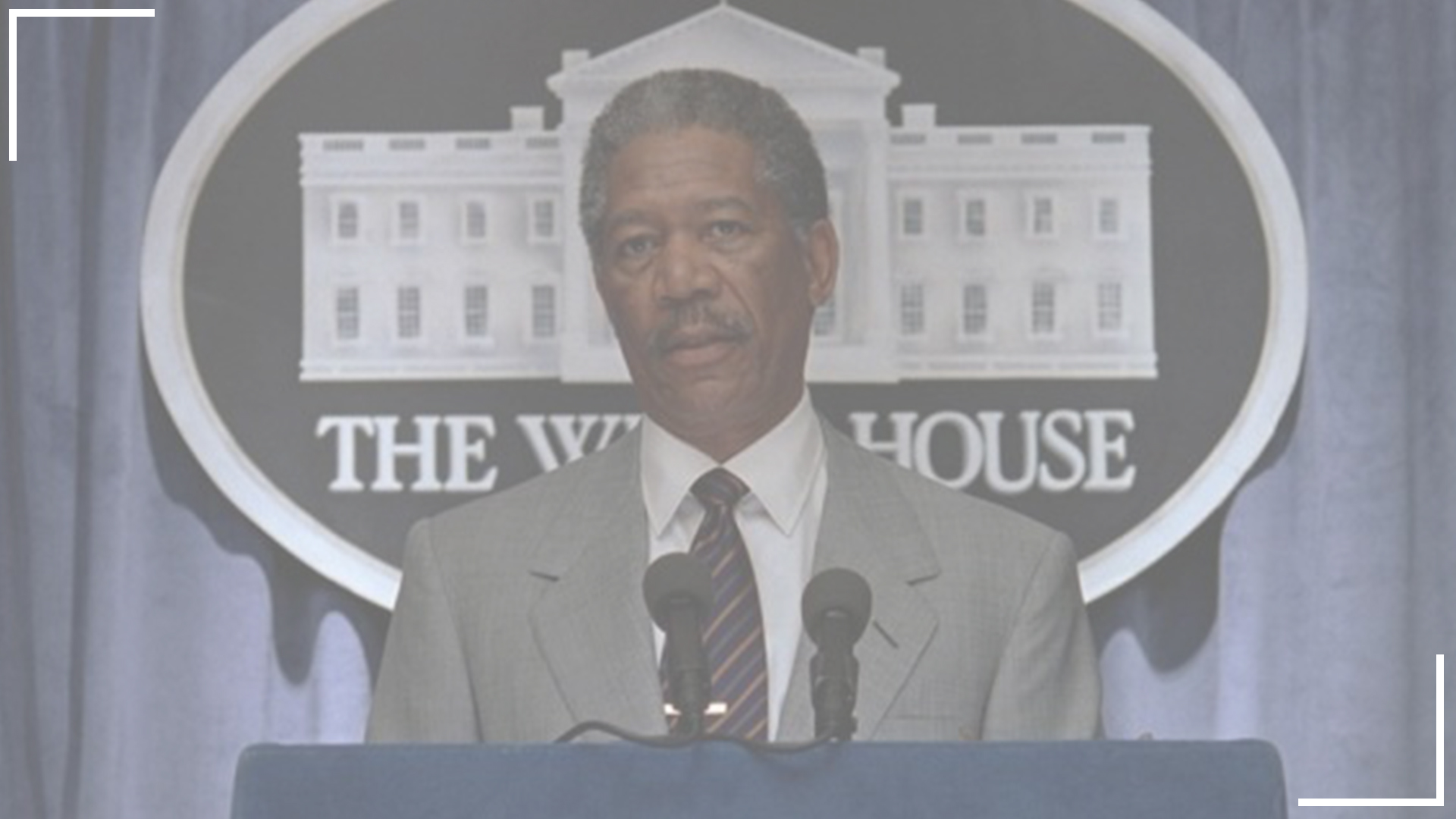 Morgan Freeman as President Tom Beck in Mimi Leder's Deep Impact.