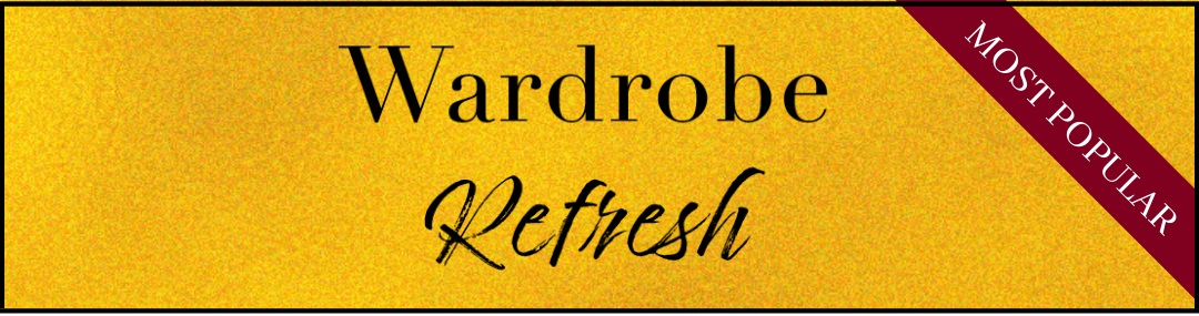 Do you have unworn or worn out pieces in your closet? I'm here to help! With the Wardrobe Refresh package, I'll work with you to develop a beautiful everyday wardrobe that will never get bored. - What's included:• 1-Hour Consultation• Style Questionnaire• In-Home Closet Analysis• Closet Purge• Style Suggestions