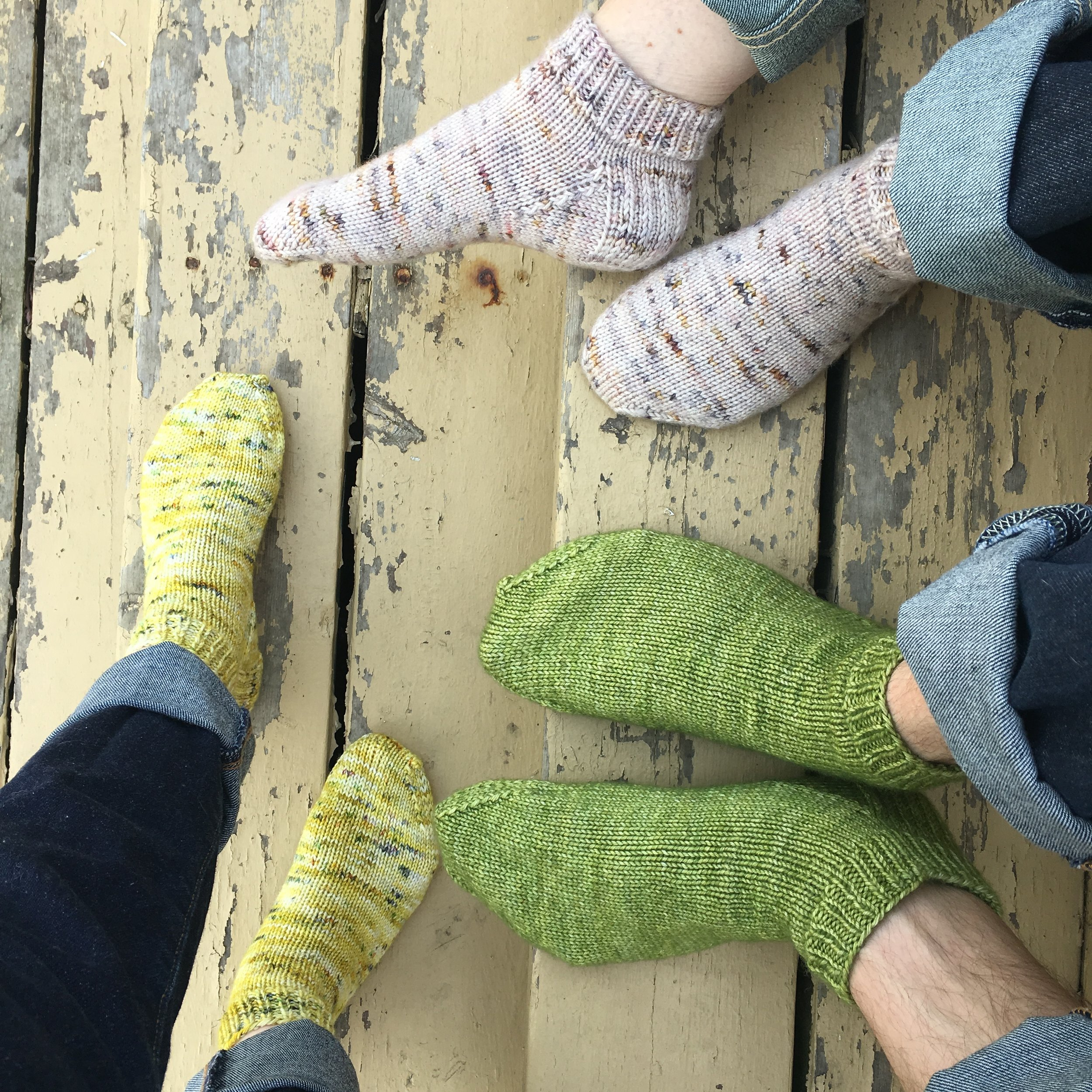 Community Socks - This sock pattern was written with the intention of giving back to the community and creating new ones. These socks are knit top-down using the magic loop method, with a traditional heel flap and kitchener stitch to close the toe. Knit a pair for yourself, for a friend, or for someone who could use a pair of hand knit socks. Share with your local knitting circle and social media knitting circles. Community Socks are a quick knit for new and seasoned sock knitters.
