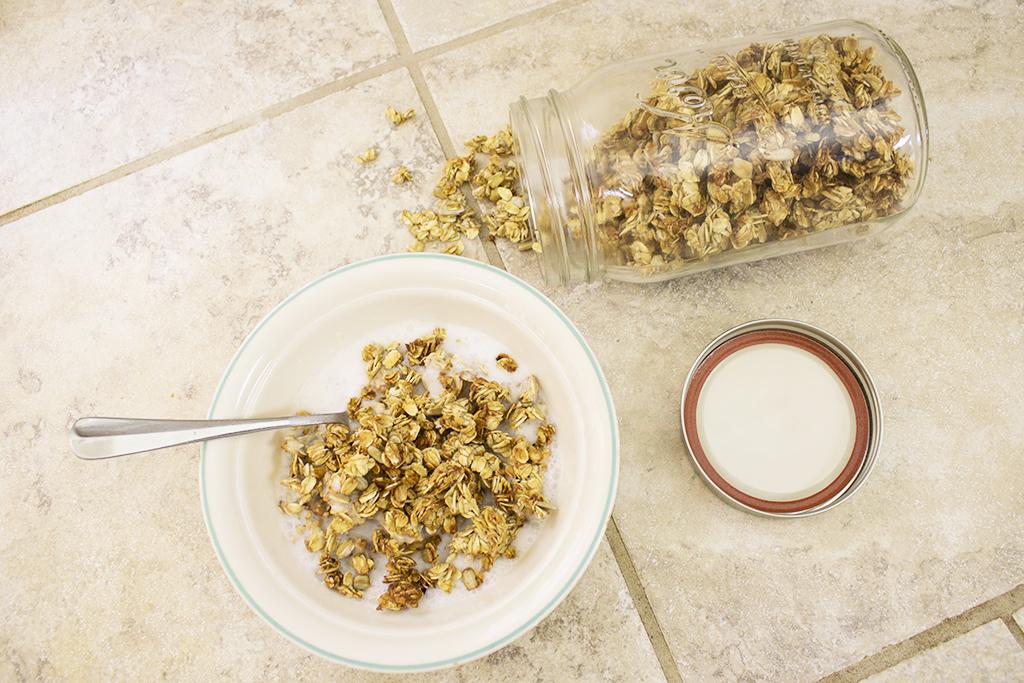 Vegan Crunchy Banana Granola Recipe