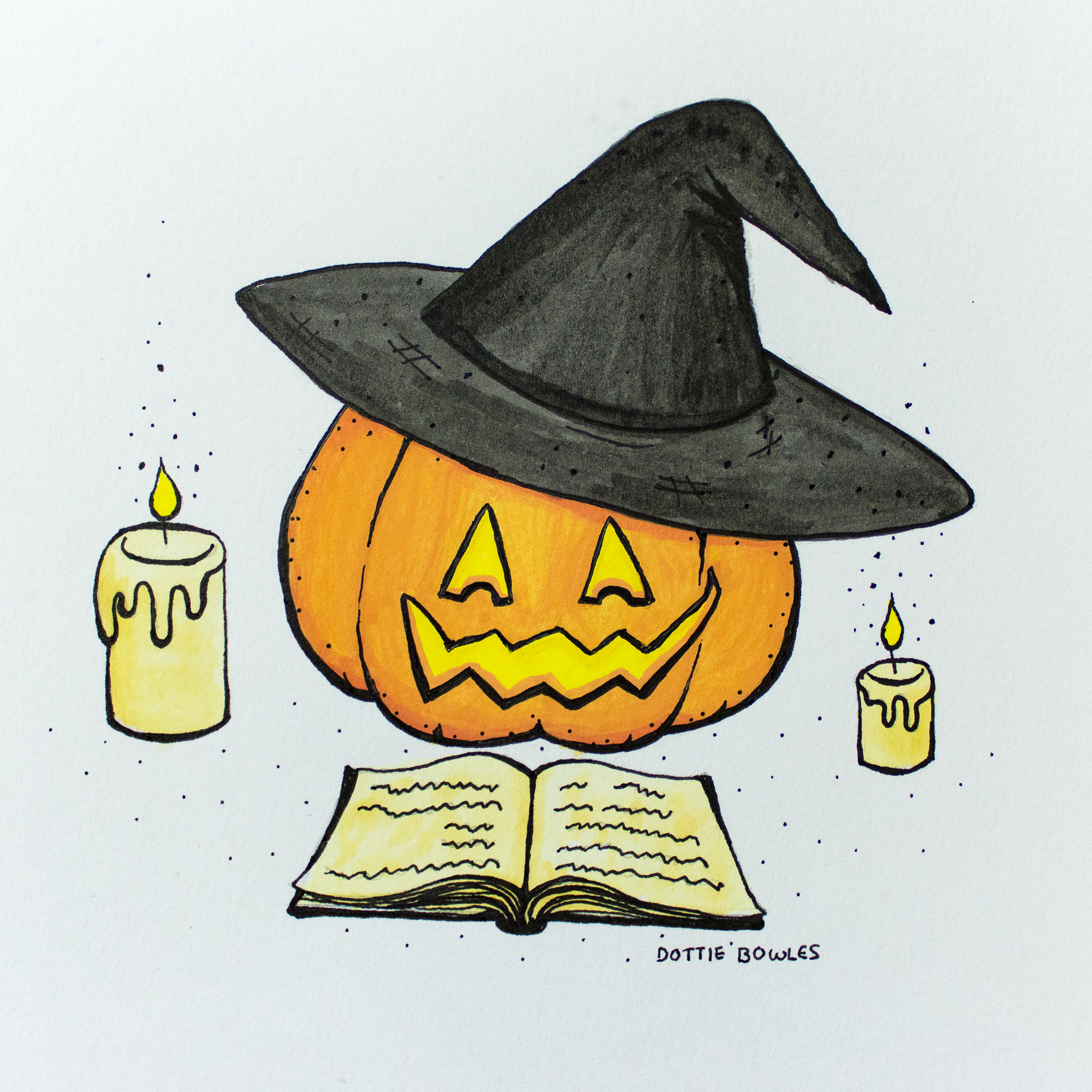 Inktober 2018 Day 4 Spell by Dottie Bowles