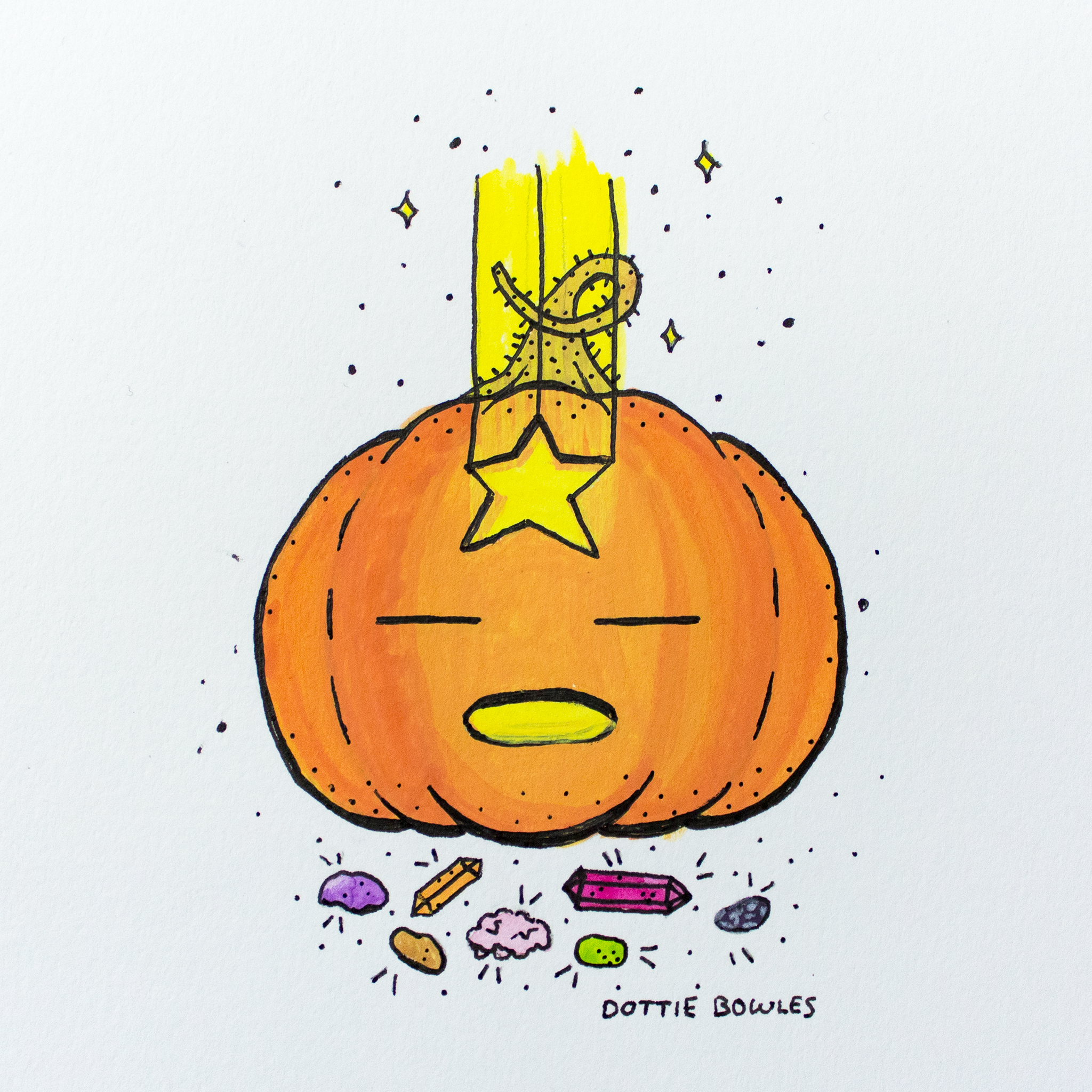 Inktober 2018 Day 8 Star by Dottie Bowles