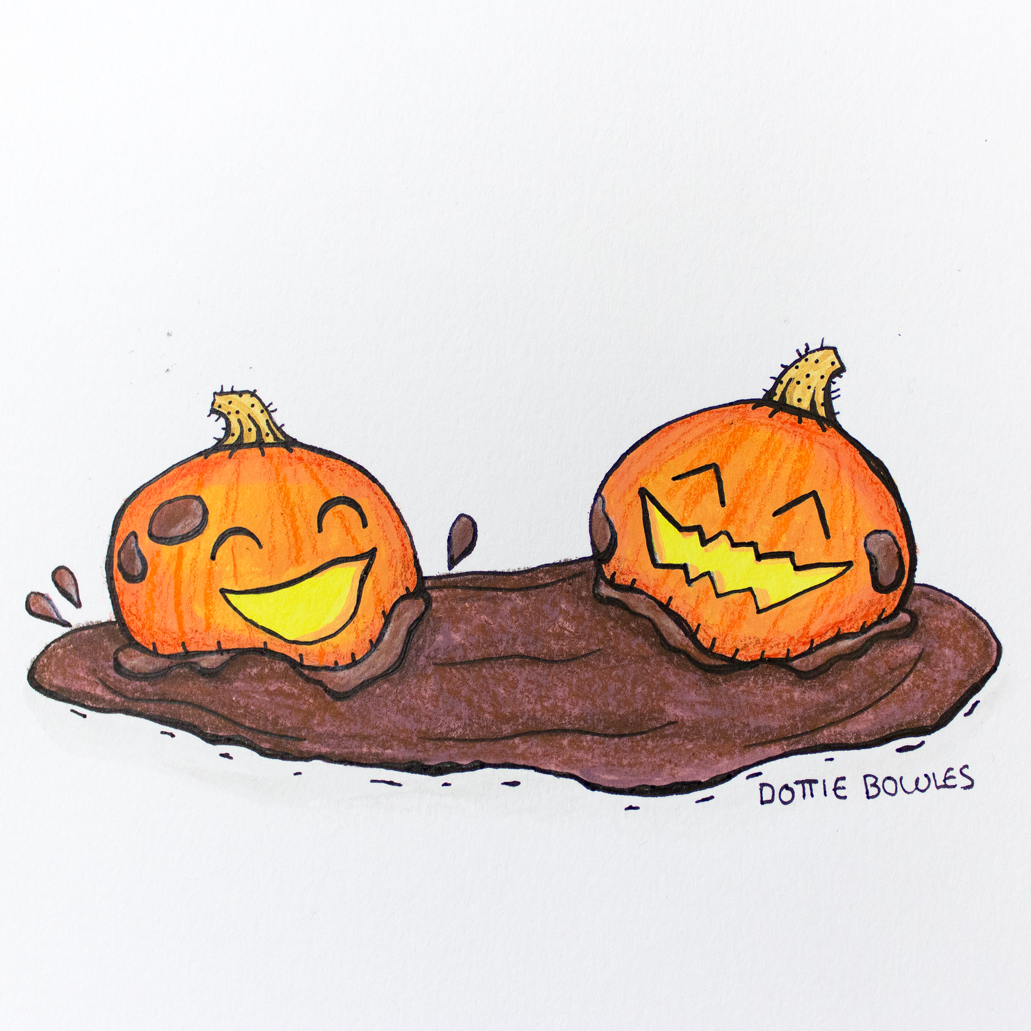 Inktober 2018 Day 23 Muddy by Dottie Bowles