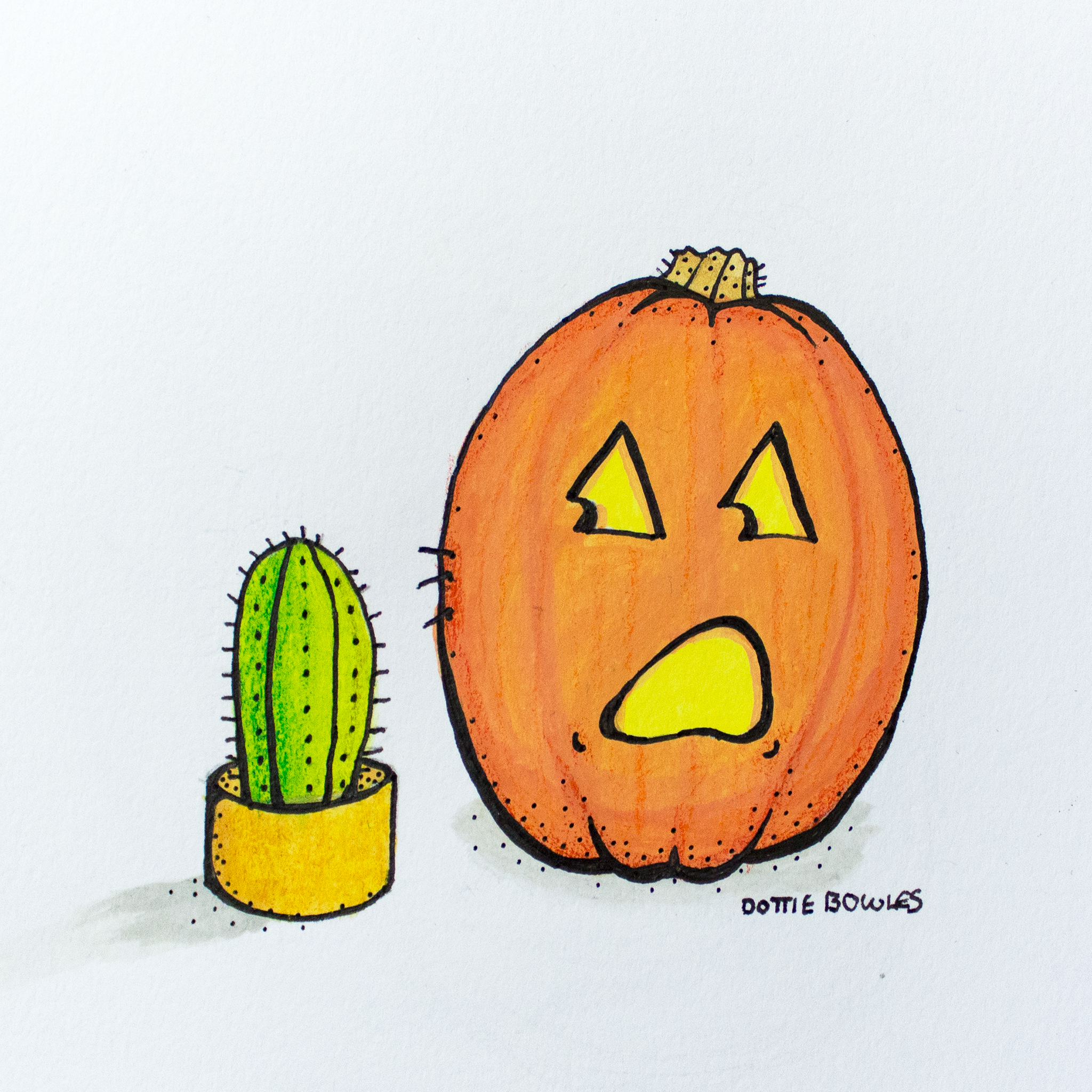 Inktober 2018 Day 25 Prickly by Dottie Bowles