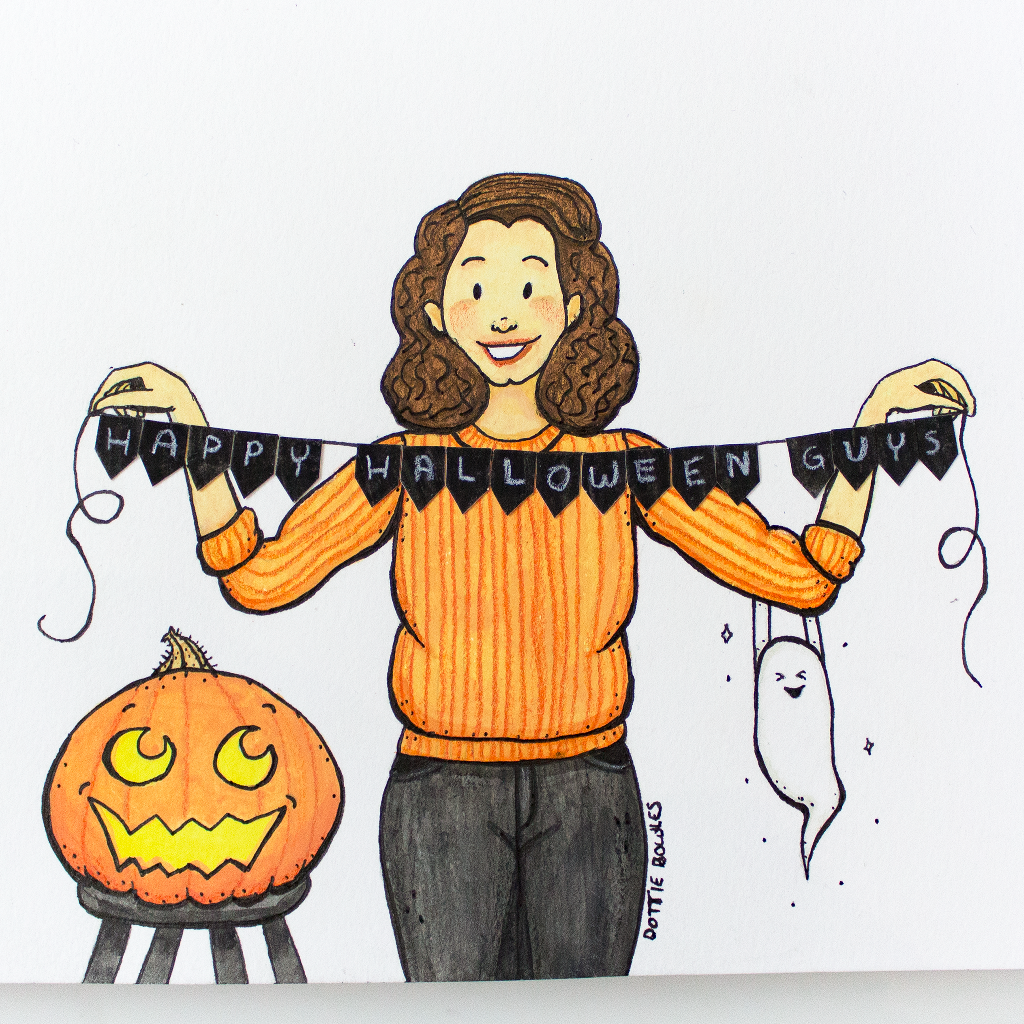 Inktober 2018 Day 31 Happy Halloween Guys by Dottie Bowles