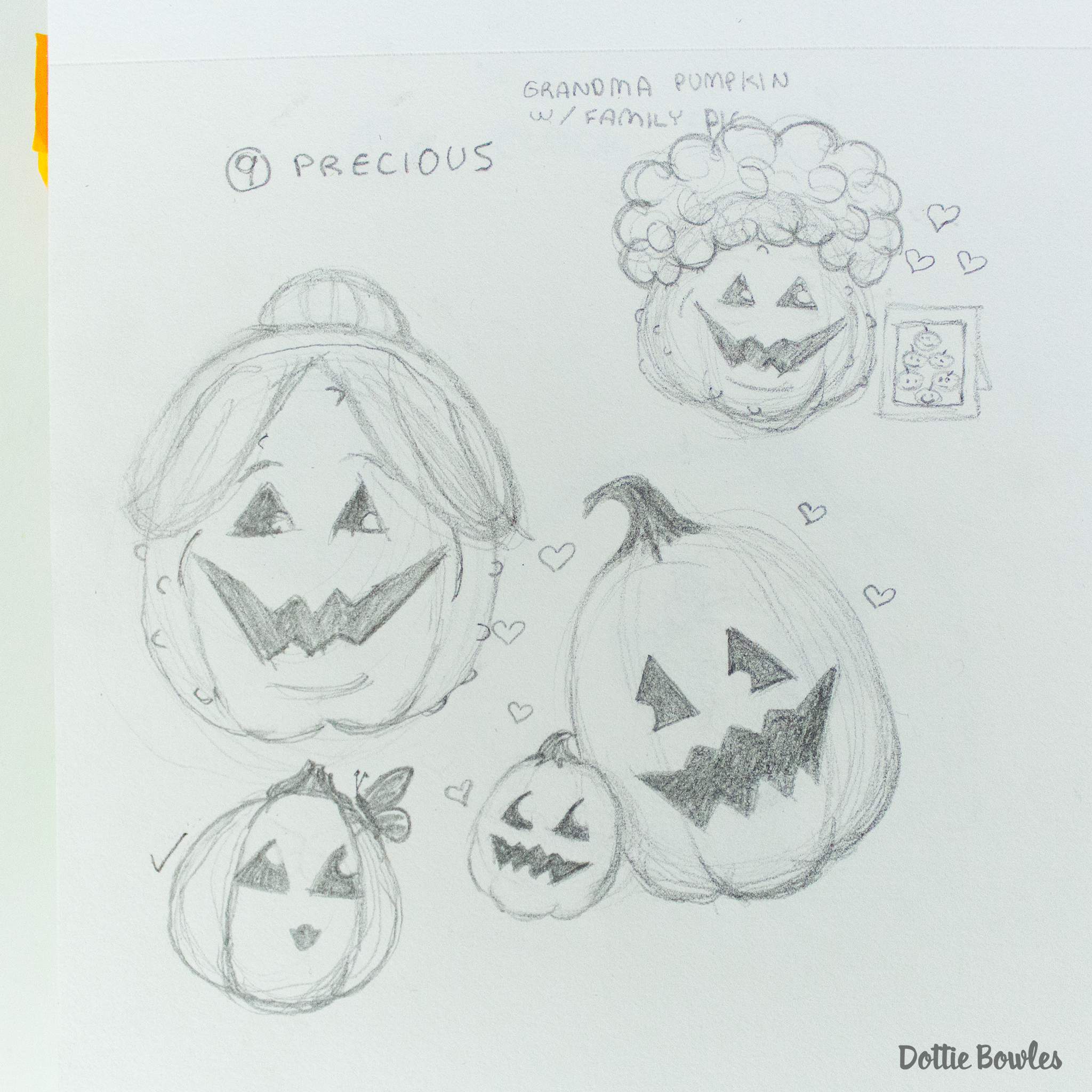 Inktober 2018 Sketches by Dottie Bowles